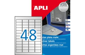LABELS APLI N.10066 45,7x21,2 SILVER